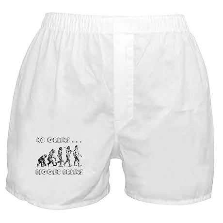 No Grains, Bigger Brains Boxer Shorts