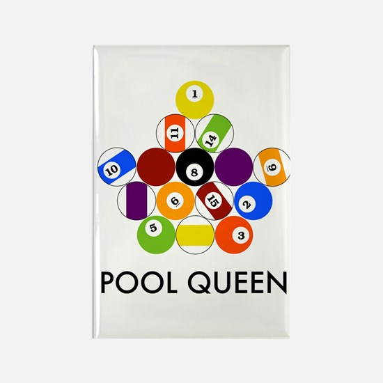 Pool Queen Rectangle Magnet