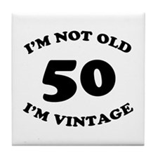 50th Funny Birthday Tile Coaster