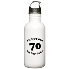 70th Funny Birthday Water Bottle