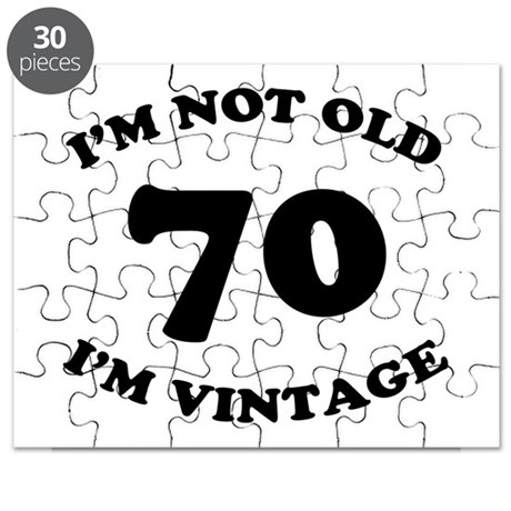 70th Funny Birthday Puzzle