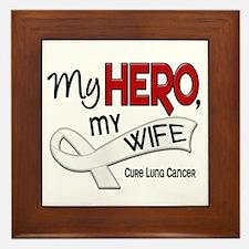 My Hero Lung Cancer Framed Tile