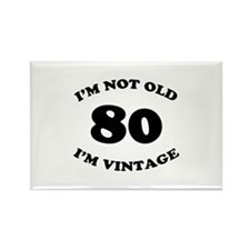 80th Funny Birthday Rectangle Magnet (10 pack)