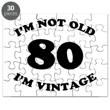80th Funny Birthday Puzzle