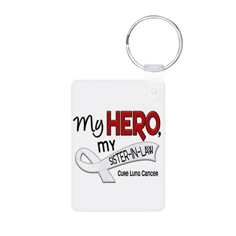 My Hero Lung Cancer Aluminum Photo Keychain