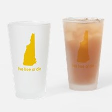 YELLOW Live Free or Die Drinking Glass