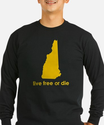YELLOW Live Free or Die T