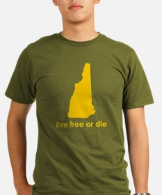 YELLOW Live Free or Die T-Shirt