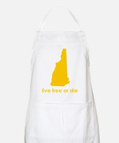 YELLOW Live Free or Die Apron