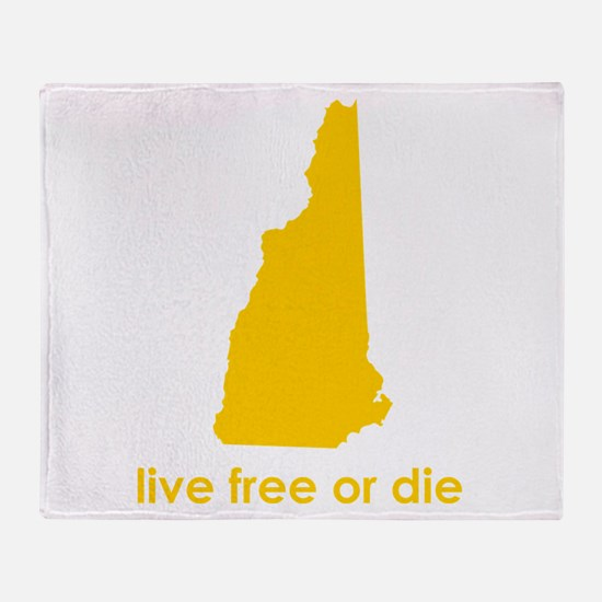 YELLOW Live Free or Die Throw Blanket