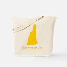 YELLOW Live Free or Die Tote Bag