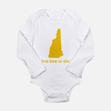 YELLOW Live Free or Die Long Sleeve Infant Bodysui