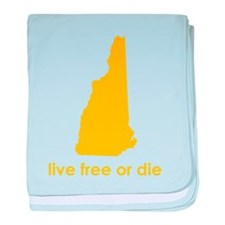 YELLOW Live Free or Die baby blanket