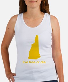 YELLOW Live Free or Die Women's Tank Top