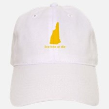 YELLOW Live Free or Die Baseball Baseball Cap