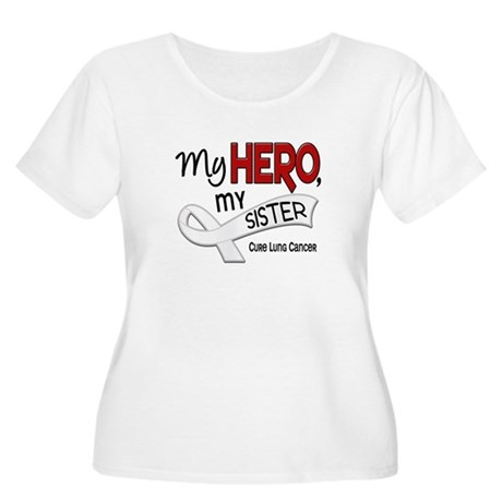 My Hero Lung Cancer Women's Plus Size Scoop Neck T