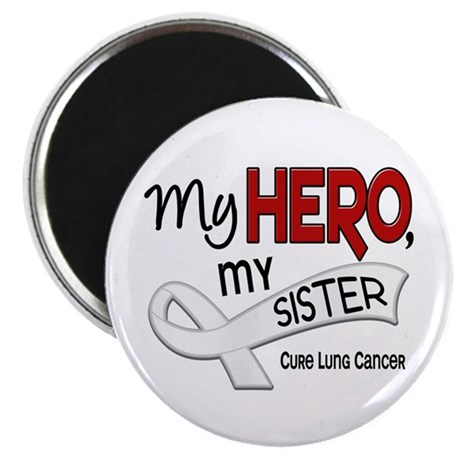 "My Hero Lung Cancer 2.25"" Magnet (100 pack)"