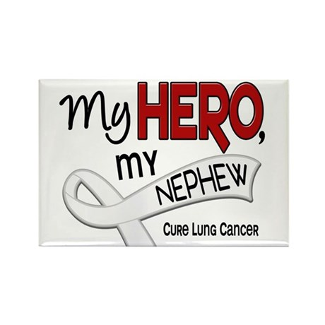 My Hero Lung Cancer Rectangle Magnet (10 pack)