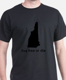 BLACK Live Free or Die T-Shirt