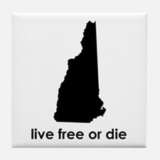 BLACK Live Free or Die Tile Coaster