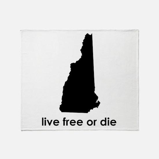 BLACK Live Free or Die Throw Blanket