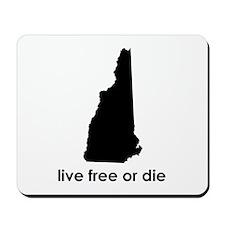 BLACK Live Free or Die Mousepad