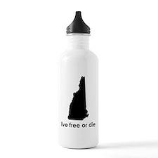 BLACK Live Free or Die Water Bottle