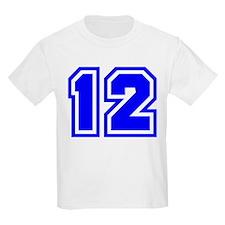 Varsity Uniform Number 12 (Blue) Kids T-Shirt