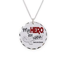 My Hero Lung Cancer Necklace Circle Charm
