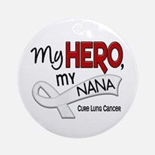 My Hero Lung Cancer Ornament (Round)