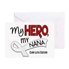 My Hero Lung Cancer Greeting Card