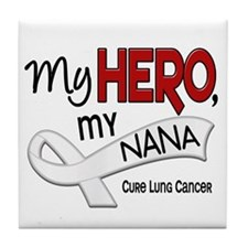 My Hero Lung Cancer Tile Coaster