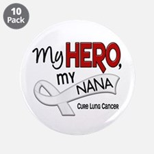 """My Hero Lung Cancer 3.5"""" Button (10 pack)"""