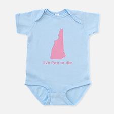 PINK Live Free or Die Infant Bodysuit