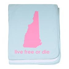 PINK Live Free or Die baby blanket