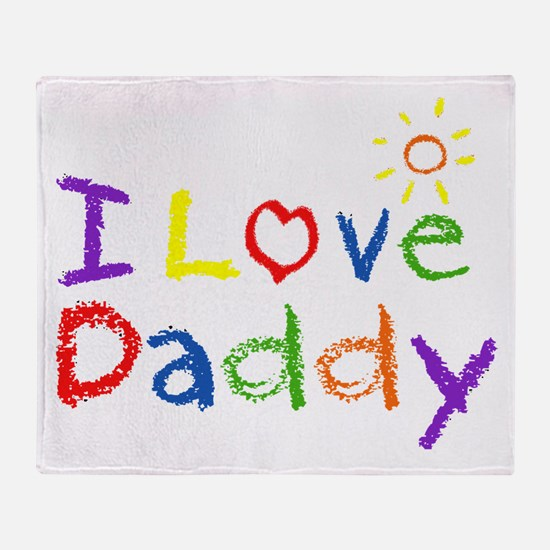 I Love Daddy Throw Blanket