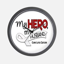 My Hero Lung Cancer Wall Clock
