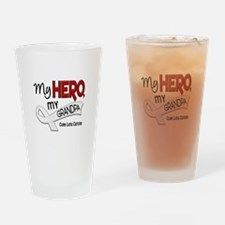 My Hero Lung Cancer Drinking Glass