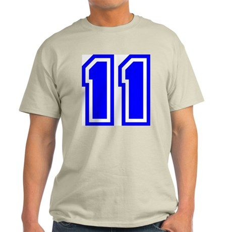 Varsity Uniform Number 11 (Blue) Ash Grey T-Shirt