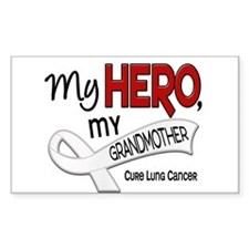 My Hero Lung Cancer Decal