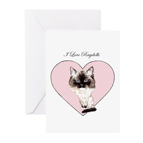 I Love Ragdolls Greeting Cards (Pk of 10)