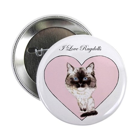 "I Love Ragdolls 2.25"" Button (10 pack)"