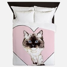 I Love Ragdolls Queen Duvet