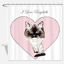 I Love Ragdolls Shower Curtain