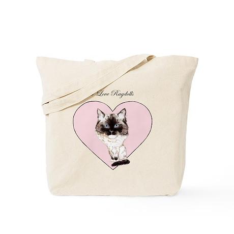 I Love Ragdolls Tote Bag