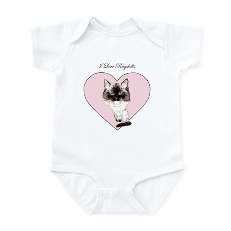 I Love Ragdolls Infant Bodysuit