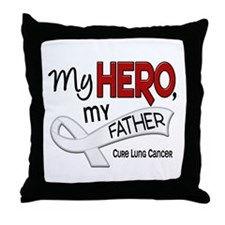 My Hero Lung Cancer Throw Pillow