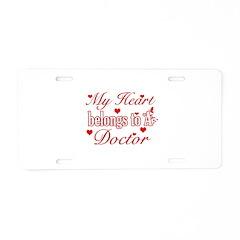 Doctor Design Aluminum License Plate