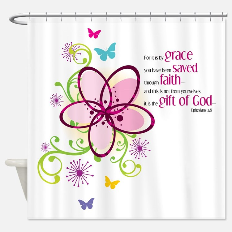 If we love one another Shower Curtain
