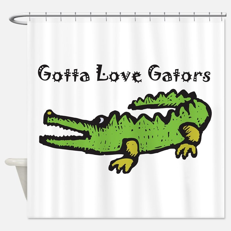 University of florida gators shower curtains university of florida gators fabric shower - Florida gators bathroom decor ...